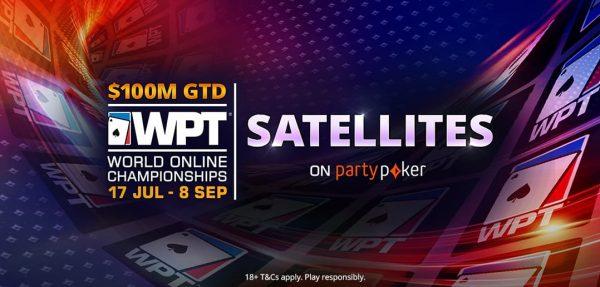 partypoker lança satélites para o WPT World Online Championships de $ 100 milhões