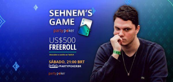 Com entrada gratuita e transmissão ao vivo na Twitch, Sehnem's Game vai distribuir $ 500 neste sábado; veja como jogar