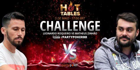 Companheiros de Brazilian Poker Crew, Leonardo 'Roqueiro' e Mateus 'Zinhão' se enfrentam no Hot Tables Challenge